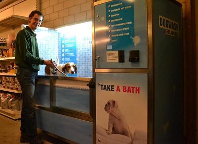 Dogwash in actie