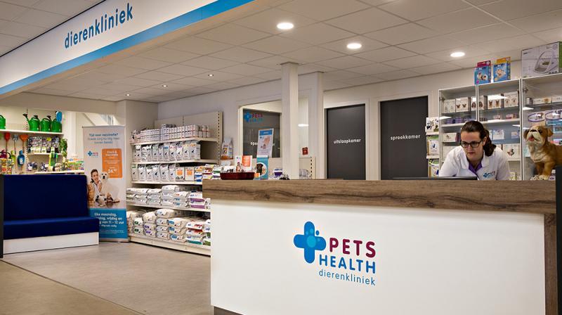 Pets Health dierenkliniek in onze winkel